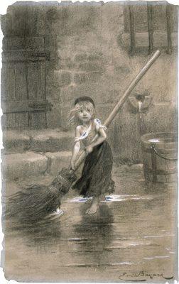 Cosette, gravure d'Émile Bayard
